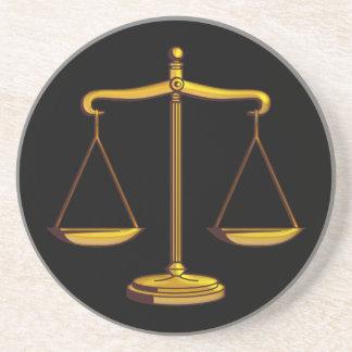 Échelles de juge - dessous de verre