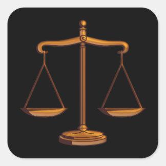 Échelles de justice - autocollant carré