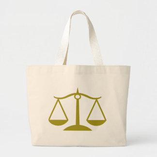 Échelles de justice - or grand sac