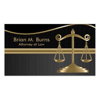 Échelles de la loi | d'avocat de la justice | carte de visite standard