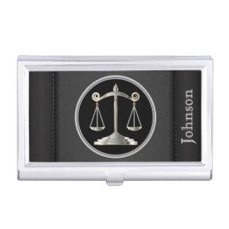 Échelles de la loi | d'avocat de la justice | étui pour cartes de visite