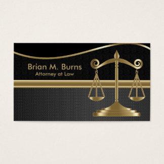 Échelles de la loi | d'avocat de la justice | - or cartes de visite