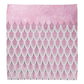 Échelles de poissons roses brillantes de sirène de bandana