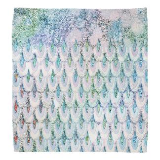 Échelles de poissons turquoises iridescentes de bandana