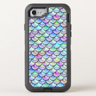 Échelles de sirène de bulle d'arc-en-ciel de Falln Coque Otterbox Defender Pour iPhone 7