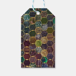 échelles de sirène de nid d'abeilles étiquettes-cadeau