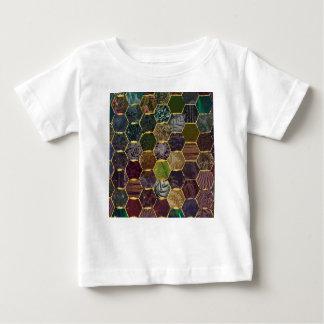 échelles de sirène de nid d'abeilles t-shirt pour bébé