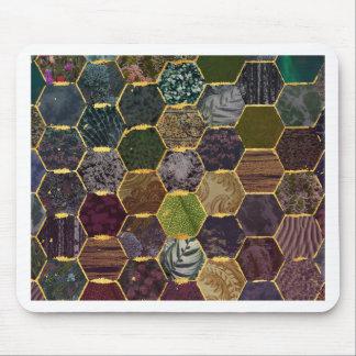 échelles de sirène de nid d'abeilles tapis de souris
