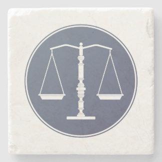 Échelles des cadeaux de la justice | Lawer Dessous-de-verre En Pierre