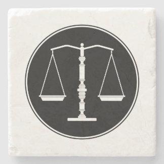 Échelles des cadeaux d'école de droit de la dessous-de-verre en pierre
