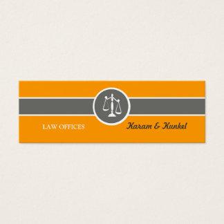 Échelles maigres de justice de carte de visite