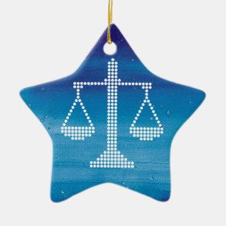 Échelles modernes de l'hiver de la justice | ornement étoile en céramique