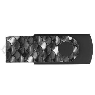 Échelles noires et blanches de Falln Clé USB 3.0 Swivel