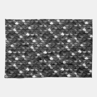 Échelles noires et blanches de Falln Serviettes Éponge