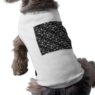 Échelles noires et blanches de Falln T-shirt Pour Chien