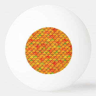 Échelles oranges et vertes de Falln Balle De Ping Pong