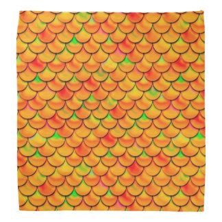 Échelles oranges et vertes de Falln Bandana