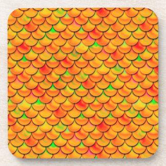 Échelles oranges et vertes de Falln Dessous-de-verre