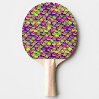 Échelles pourpres et vertes de Falln Raquette Tennis De Table