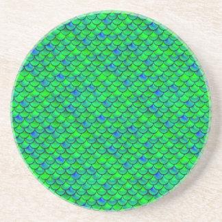 Échelles vert-bleu de Falln Dessous De Verres