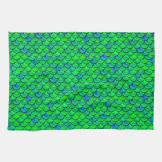 Échelles vert-bleu de Falln Serviette Éponge