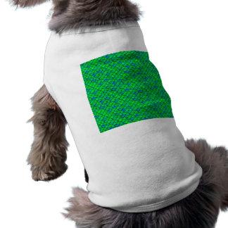 Échelles vert-bleu de Falln T-shirt Pour Chien