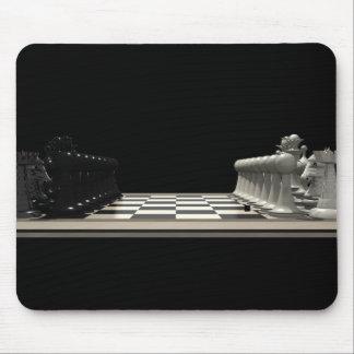 Échiquier avec des pièces d'échecs : Mousepad Tapis De Souris