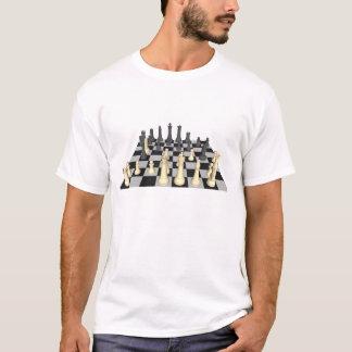 Échiquier avec des pièces d'échecs - T-shirt fait