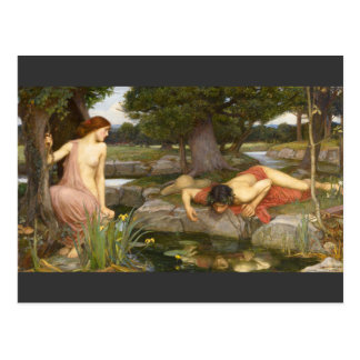 Écho et narcisse de peinture de Pre-Raphaelite Carte Postale