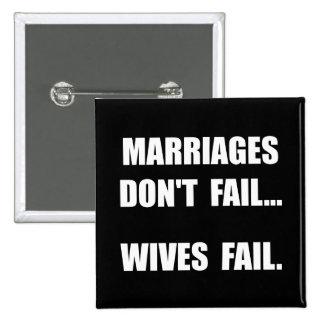 Échouer d'épouses badge carré 5 cm