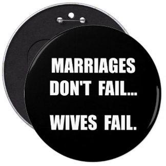 Échouer d'épouses badge rond 15,2 cm