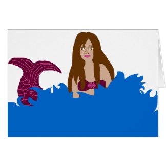 Éclaboussement de la carte vierge de sirène