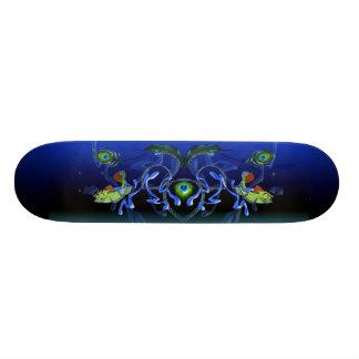 Éclaboussure basse de paon plateaux de skateboards customisés