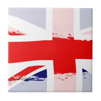 Éclaboussure BRITANNIQUE de drapeau Petit Carreau Carré