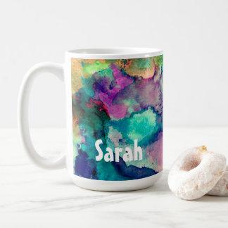 Éclaboussure colorée personnalisée 1 de peinture mug