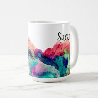 Éclaboussure colorée personnalisée 2 de peinture mug
