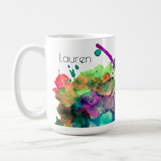 Éclaboussure colorée personnalisée 3 de peinture mug