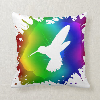 Éclaboussure de colibri oreillers