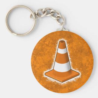 Éclaboussure de cône de sécurité routière porte-clés