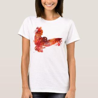 Éclaboussure de couleur de hibou de phenix du feu t-shirt