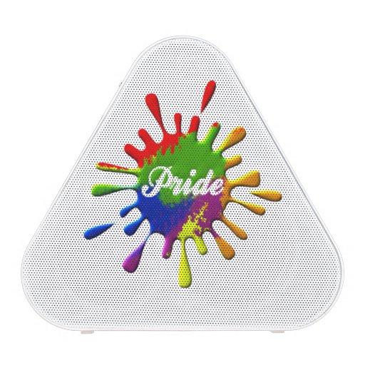 Éclaboussure de gay pride de drapeau d'arc-en-ciel haut-parleur bluetooth