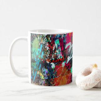 Éclaboussure de graffiti et de peinture mug