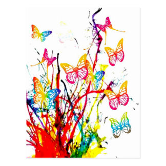 éclaboussure de papillon carte postale