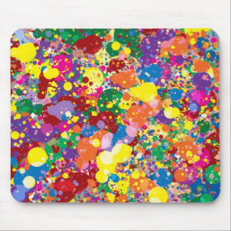 Éclaboussure de peinture d'arc-en-ciel tapis de souris