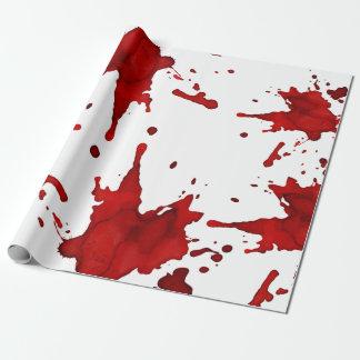 Éclaboussure de sang papiers cadeaux noël