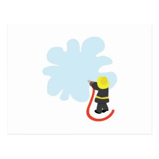 Éclaboussure de sapeur-pompier carte postale