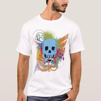 Éclaboussure grunge de musique de crâne t-shirt