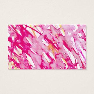 Éclaboussure rose de peinture d'aquarelle cartes de visite