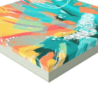 Éclaboussure Teal et art abstrait de toile Toiles