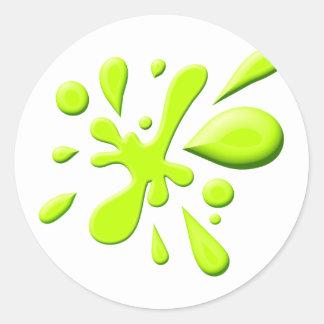 Éclaboussure verte de peinture sticker rond